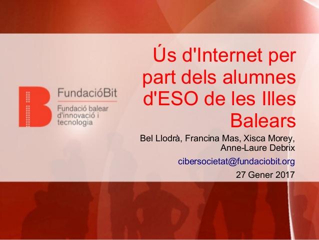Ús d'Internet per part dels Alumnes d'ESO de les Illes Balears